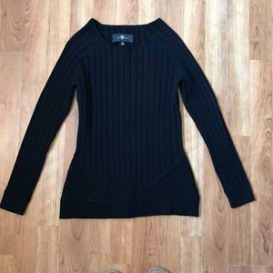 7 for all mankind Black Ribbed Sweater XS